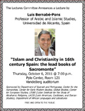 Bernabe Pons lecture flyer